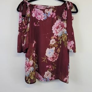 Sweat Pea NY & Co Stacy Frati Open Shoulder Blouse